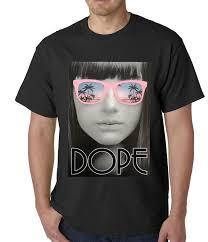 Dope American Flag Dope Palm Tree Glasses Mens T Shirt