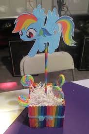 my pony centerpieces great for birthday diy