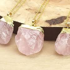 gold rose quartz necklace images Best raw rose quartz products on wanelo jpg
