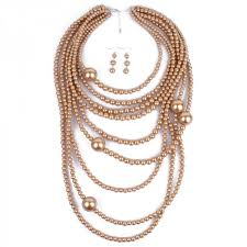 multi layer necklace images Pearl necklace multi layer maxi strand necklace plastic bead long jpeg