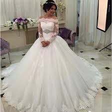 long sleeve lace wedding dresses 2017 for girls appliques china