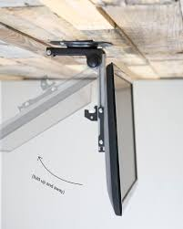 vivo folding pitched roof ceiling mount for lcd flat tv and