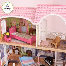 How To Make Dollhouse Furniture Out Of Household Items Amazon Com Kidkraft Magnolia Mansion Dollhouse With Furniture