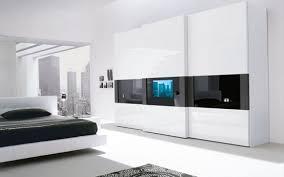 Gray Modern Bedroom Super Modern Bedroom Wardrobe With A Tv Built In The Door Digsdigs