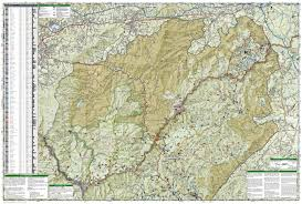 National Geographic Map Pisgah Ranger District Pisgah National Forest National
