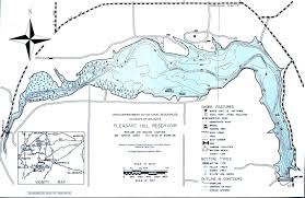 Map Of Northwest Ohio pleasant hill reservoir fishing map northwest ohio