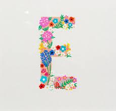 e flowers 12 best lovely alpha letters images on alphabet
