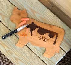 cutting board personalized bamboo cow shape cutting board personalized gifts winchester