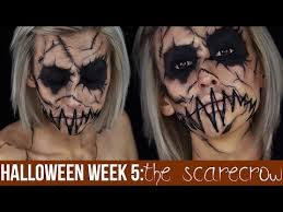 Scary Scarecrow Costume The Scarecrow Makeup Halloween 2014 Youtube