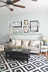 living and dining room tour mid century country style