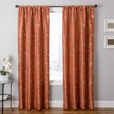 Rust Color Curtains Cleopatria In Rust Pumpkin Orange Color Embroidery Pattern With