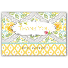 personalized thank you cards simply personalized thank you cards dena designs