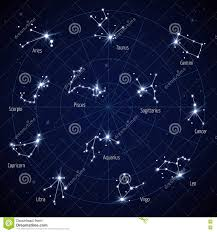 Sky Maps Vector Sky Map With Constellations Stock Vector Image 60042454