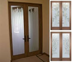 home design french closet doors with frosted glass subway tile
