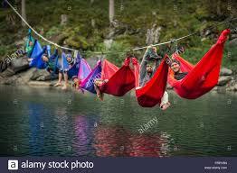rainbow hammock stock photo royalty free image 100685361 alamy