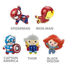 hallmark marvel decoupage ornaments thinkgeek