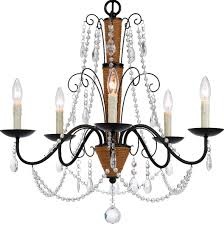 Chandelier Lamp Shades With Crystals by Rope On Iron U0026 Crystals 5 Light Chandelier Lamp Shade Pro