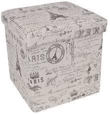 songmics paris effiel tower storage cube ottoman u0026 reviews wayfair