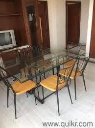 Elegant Italian Made Glass Top  Seater Dining Table Gently Used - Glass top dining table hyderabad