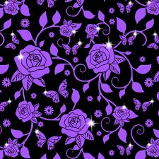 purple roses flowers floral purple roses leaves leaf vines butterfly