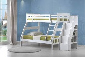 White Wooden Bunk Bed Wooden Bunk Bed With Stairway The Best Bunk Bed Store