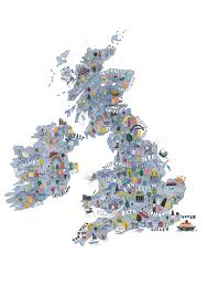 Map Of The United Kingdom Map Of The U K And R O I Steph Marshall Illustration
