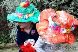 easter bonnets newspaper easter bonnets family crafts