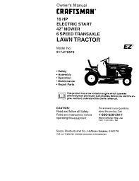 craftsman ez3 917 270670 owner s manual