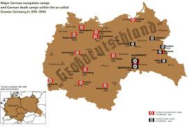 Map Of Poland And Germany by German Concentration Camps