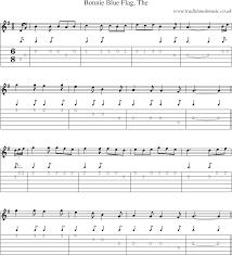 Bonnie Flag Irish Music Tune Bonnie Blue Flag With Guitar Tab Sheetmusic