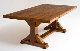 solid wood trestle dining table reclaimed wood trestle dining table rustic tables barn elegant 16