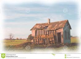 old farmhouse watercolor painting from the farm royalty free stock