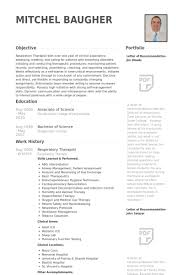 Occupational Therapist Resume Template Respiratory Therapist Resume Samples Visualcv Resume Samples