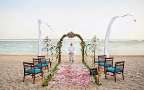 Beach Wedding Bali Beach Wedding Venue At Nusa Dua Beach