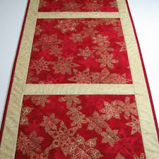 gold christmas table runner best quilted christmas table runner products on wanelo
