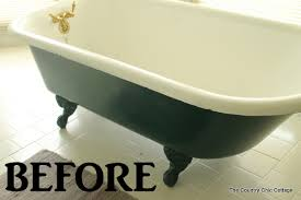 painting a claw foot tub the country chic cottage
