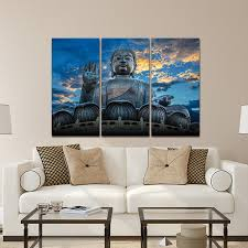home decor buddha hd prints wall art sunset modern canvas posters pictures 3 pieces