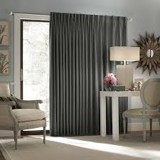 eclipse thermal blackout patio door curtain panel charcoal window