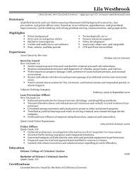 Security Guard Job Duties For Resume Resume Examples For Law Enforcement Resume For Your Job Application