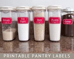 Labels For Kitchen Canisters Printable Kitchen Pantry Labels Editable Pdf Pick Your Color