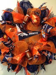 How To Make Halloween Mesh Wreaths by Denver Broncos Deco Mesh Wreath Custom Order Https Www