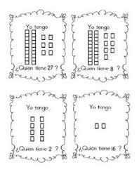 comparing numbers worksheet in spanish using base ten blocks