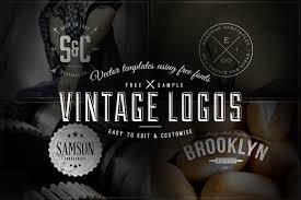 free download 4 vintage logos badges u2013 vector templates u2013 ian