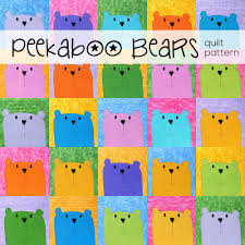 peekaboo bears applique quilt pattern u2013 shiny happy
