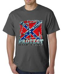 Our Flag Confederate Rebel Flag Protect Our Flag Mens T Shirt