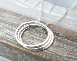 sterling silver rings necklace images 3 circle necklace etsy jpg
