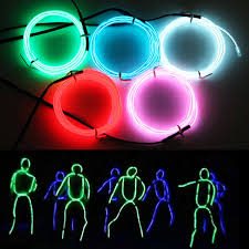 Light Up Stick Figure Halloween Costume Amazon Com Exlight 3 3 Ft Neon Light El Wire New Drive