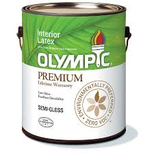 shop olympic white soft gloss latex interior paint actual net