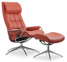 brown chair and ottoman ekornes stressless london high back leather recliner and ottoman