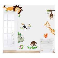 stickers animaux chambre bébé stickers animaux du zoo chambre de bébé et enfant
